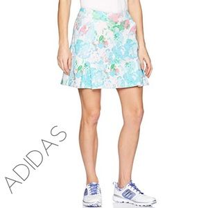 Adidas pleated floral golf tennis sport skirt M